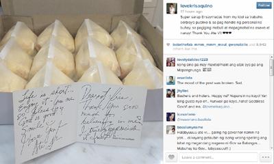 Ang Instagram post ni Kris Aquino ng regalong bigay sa kanya ni