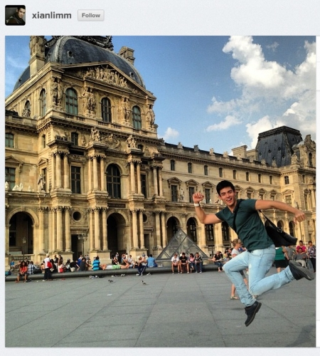 The Kapamilya actor Instagrammed photos and videos of himself in the